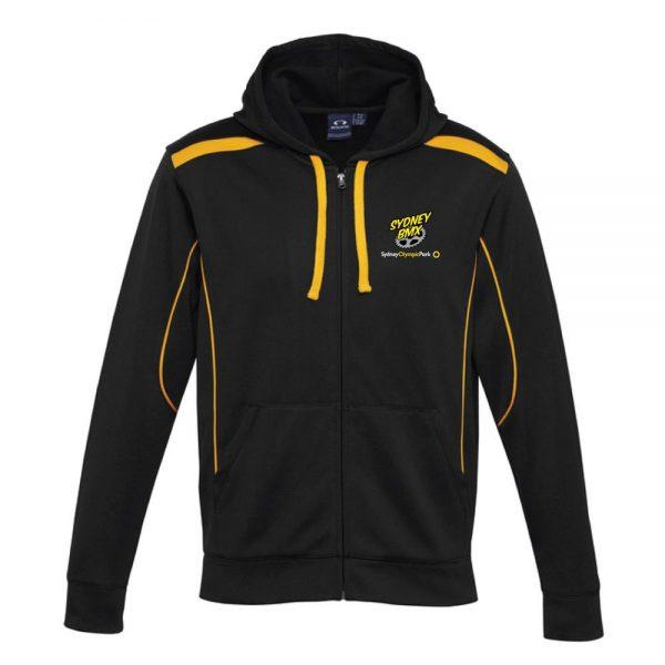 Black/Gold Hoodies Zip
